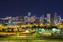Im Stadtzentrum gelegenes Panorama Denvers, Colorado Stockfoto