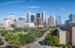 Im Stadtzentrum gelegenes Panorama Houstons Lizenzfreies Stockbild