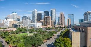 Im Stadtzentrum gelegenes Panorama Houstons Lizenzfreie Stockbilder