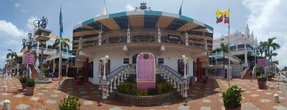 Im Stadtzentrum gelegenes Panorama Oranjestad Lizenzfreies Stockbild