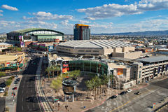 Im Stadtzentrum gelegenes Phoenix, Arizona Stockfotos