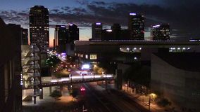 Im Stadtzentrum gelegenes Phoenix, Arizona stock video