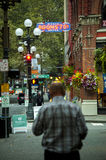 Im Stadtzentrum gelegenes Pionierquadrat Lizenzfreie Stockfotos