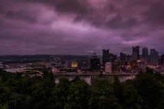 Im Stadtzentrum gelegenes Pittsburgh, Pennsylvania lizenzfreies stockfoto