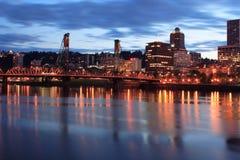 Im Stadtzentrum gelegenes Portland Oregon Lizenzfreies Stockfoto