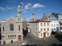 Im Stadtzentrum gelegenes Quebec City Stockbild