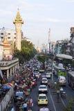 Im Stadtzentrum gelegenes Rangun Lizenzfreies Stockfoto