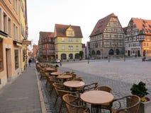Im Stadtzentrum gelegenes Rothenburg ob der Tauber stockbilder