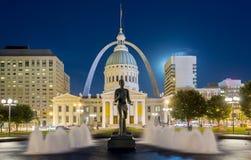 Im Stadtzentrum gelegenes Saint Louis Stockfotografie