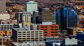 Im Stadtzentrum gelegenes Salt Lake City, Utah Lizenzfreies Stockfoto