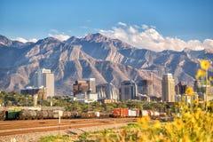 Im Stadtzentrum gelegenes Salt Lake City, Utah Lizenzfreies Stockbild