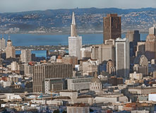 Im Stadtzentrum gelegenes San Francisco Lizenzfreie Stockfotografie