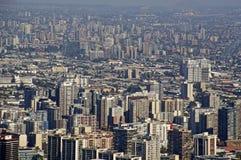 Im Stadtzentrum gelegenes Santiago Stockfotos