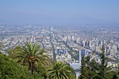 Im Stadtzentrum gelegenes Santiago Lizenzfreie Stockfotos