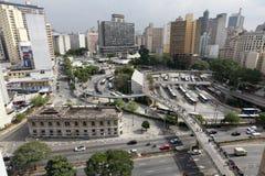 Im Stadtzentrum gelegenes Sao-Paulo Brasilien Lizenzfreie Stockfotos