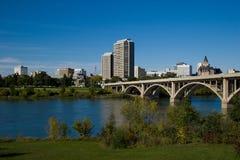 Im Stadtzentrum gelegenes Saskatoon Lizenzfreies Stockbild