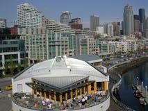 Im Stadtzentrum gelegenes Seattle Stockbilder