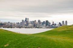 Im Stadtzentrum gelegenes Seattle Stockfotos