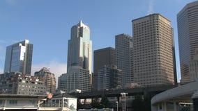 Im Stadtzentrum gelegenes Seattle, Vereinigte Staaten stock footage