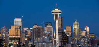 Im Stadtzentrum gelegenes Seattle, Washington State Lizenzfreie Stockfotos