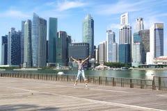 Im Stadtzentrum gelegenes Singapur. Lizenzfreie Stockfotografie