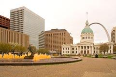 Im Stadtzentrum gelegenes St. Louis Stockfoto