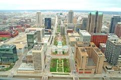 Im Stadtzentrum gelegenes St. Louis Lizenzfreie Stockbilder
