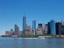 Im Stadtzentrum gelegenes Stadt Manhattans scape stockfotos
