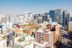 Im Stadtzentrum gelegenes Stadtbild Myeongdong in Südkorea Lizenzfreie Stockfotografie