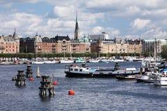 Im Stadtzentrum gelegenes Stockholm Lizenzfreie Stockfotografie