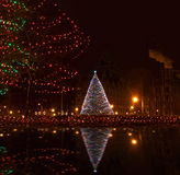 Im Stadtzentrum gelegenes Syrakus, ny am christmastime Lizenzfreie Stockfotos