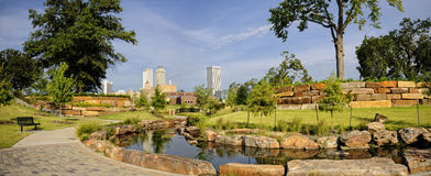 Im Stadtzentrum gelegenes Tulsa Stockfotos