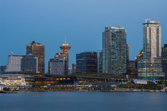 Im Stadtzentrum gelegenes Vancouver Lizenzfreie Stockfotos