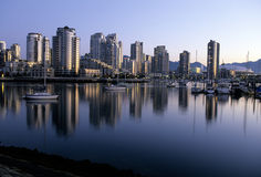 Im Stadtzentrum gelegenes Vancouver-Kanada Stockbilder