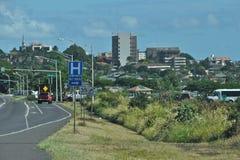 Im Stadtzentrum gelegenes Wailuku Stockfoto