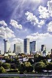 Im Stadtzentrum gelegenes Warschau an der Nachmittagssonne Stockbilder