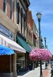 Im Stadtzentrum gelegenes Winterset Iowa Lizenzfreie Stockbilder