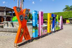 Im Stadtzentrum gelegenes Xilitla, San Luis Potosi - Mexiko Stockfotografie