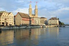 Im Stadtzentrum gelegenes Zürich Lizenzfreie Stockbilder