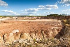 Im Tagebau lizenzfreies stockfoto