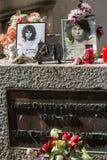 Im tombe de Morrison dans le cimetière de Pere-Lachaise, Paris Image libre de droits