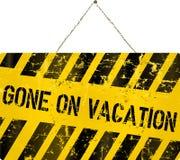 Im Urlaub Zeichen Lizenzfreie Stockbilder