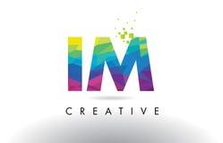 IM vector del diseño de los triángulos de I M Colorful Letter Origami Fotografía de archivo