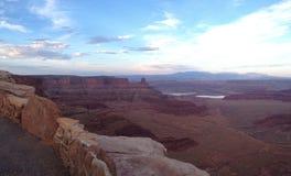 Im Voraus bezahlte Leistungs-Punkt-Nationalpark bei Sonnenuntergang Stockfotos