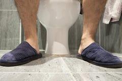 Im WC Stockfoto