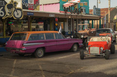 im Weg 66 Seligman, Arizona Stockfoto
