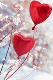 Im Winter mit Liebe Stockbild