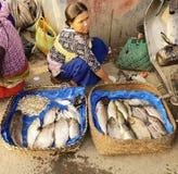 IMA-marknad på imphal manipur Indien Royaltyfri Fotografi