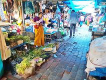 IMA-Markt in Imphal Manipur Indien Lizenzfreies Stockbild