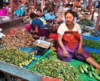 IMA rynek przy Imphal Manipur ind zdjęcie royalty free